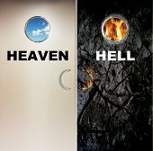 picture of hells angels  - two heavy doors to heaven and hell - JPG