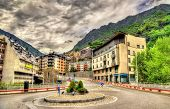 Постер, плакат: Buildings In Andorra La Vella The Capital Of Andorra