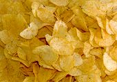 picture of crip  - Background made of yellow crips - JPG