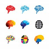 ������, ������: Concept Vector Logo Icons Of Brain And Mind