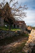 Постер, плакат: Ruins Of The Byzantine Castle Town Of Mystras