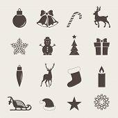 Постер, плакат: Christmas icons