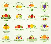 ������, ������: Fruits And Vegetables Labels And Design Elements