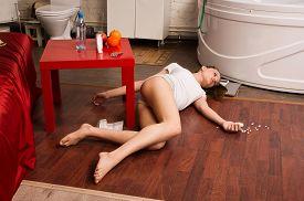 foto of overdose  - Crime scene simulation - JPG