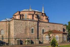 picture of ottoman  - Little Hagia Sophia is a former Eastern Orthodox church dedicated to Saints Sergius and Bacchus in Constantinople converted into a mosque during the Ottoman Empire - JPG