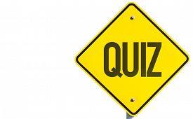 stock photo of quiz  - Quiz sign isolated on white background - JPG