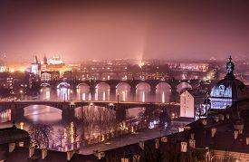 picture of marsala  - Prague and Vltava river from Letna Hill  - JPG