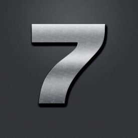 stock photo of number 7  - Shabby metal numbers - JPG