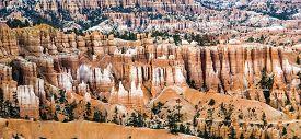 stock photo of hoodoo  - bryce canyon with spectacular hoodoos in sunrise - JPG