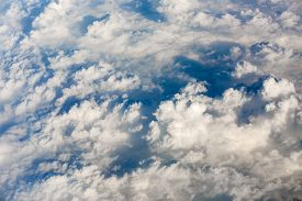 stock photo of ozone layer  - Aerial view of clouds - JPG