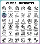 Global Business Concept Icons poster