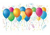 foto of happy birthday  - balloons - JPG