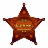picture of criminology  - Marshal abstract badge - JPG