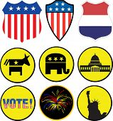 Vector political icons set