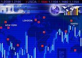 Постер, плакат: Аннотация бизнес концепция: Сцена на рынке обмена иностранной валюты