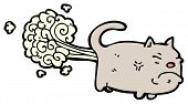 picture of farting  - farting cat cartoon - JPG