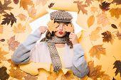 Fashionable Cutie. Pretty Woman Wear Autumn Fashion Accessories. Casual Fashion Trends For Fall. Fas poster