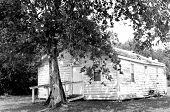 Old, Shabby, Abandoned, Neglected House Located In A Rural Country Setting That Needs Repair, B&w poster