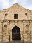 pic of revolutionary war  - The historic Alamo mission in San Antonio Texas famous battleground of the Texas Revolutionary War - JPG
