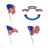 stock photo of waving american flag  - American flags - JPG