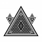 Sacred Geometry. Secret Symbol Of Geometry. Triangular Symbol. Labyrinth Of Illuminates. Alchemy, Re poster