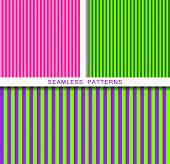 Set Of Vector Seamless Patterns. Endless Textures In Plastic Pink Ufo Green And Proton Purple Colors poster