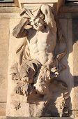 stock photo of centaur  - Centaur marble statue in Dresden Zwinger Germany - JPG