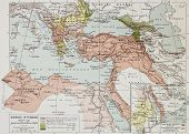 pic of constantinople  - Ottoman Empire historical development old map  - JPG