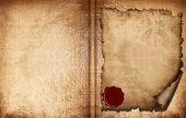Постер, плакат: Старая книга бумаги
