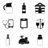 Vet Doctor Icons Set. Simple Set Of 9 Vet Doctor Icons For Web Isolated On White Background poster