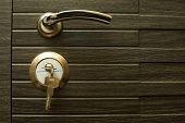Key From Door. A Lock On The Door. Door Knob. Armored Doors poster