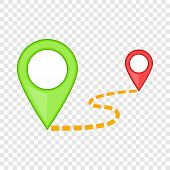 Map Pointer Icon. Cartoon Illustration Of Map Pointer Vector Icon For Web poster