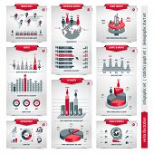 Vector Set Of Infographic Elements Containing Population Demographics Design, Business Statistical L poster
