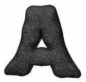 stock photo of alphabet letters  - stone uppervase letter a  - JPG