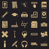 Theory Icons Set. Simple Set Of 25 Theory Vector Icons For Web For Any Design poster