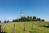 Monumental Tower Of San Martino Della Battaglia Near The Lake Garda In Neo-gothic Style, 1878. Natio poster