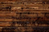 Old Wood Texture Background. Dark Brown Wooden Boards, Planks. Surface Of Dark Shabby Weathered Parq poster