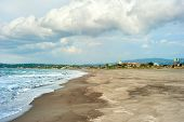 foto of luzon  - Philippines sandy beach and moody sky - JPG