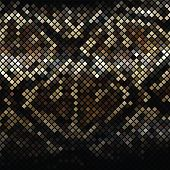 pic of anaconda  - Dark mosaic imitating a snake skin - JPG