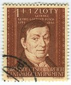 DEUTSCHES REICH  - CIRCA 1944: A stamp printed in Deutsches Reich shows image of the Georg Gottlieb