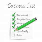 success check list