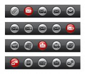 E-mail Icons // Button Bar Series