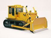 stock photo of earthwork operations  - Heavy crawler bulldozer on a light background - JPG