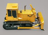 picture of earthwork operations  - Heavy crawler bulldozer on a gray background - JPG