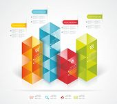 Modern Design Template Isometric Style.