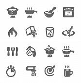 picture of blender  - Simple set of cooking related vector icons for your design - JPG