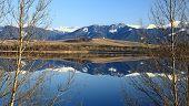 pic of fairyland  - Water reflection on water basin Liptovska Mara Slovakia - JPG