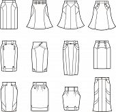 picture of mini-skirt  - Vector illustration - JPG