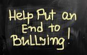 Help Put An End To Bullying Concept