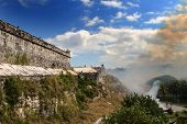 picture of el morro castle  - Burning of grass at the fortress El Morro in Cuba - JPG